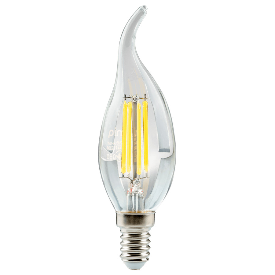 LED лампа светодиодная E14, 4W, 3000K, C37, Ilumia, 400 lm, 220V (LF-4