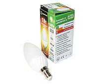 LED лампа светодиодная E14, 5W, 3000K, C37, Grand, 400 lm, 220V (B-C37E14W05M), энергосберегающая эконом лед лампа