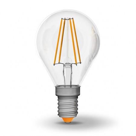LED лампа светодиодная E14, 4W, 4100K, G45, Videx, 440 lm, 220V (VL-G4
