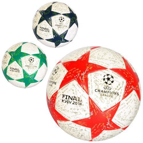 Мяч футбольный MS 1713 размер 4, ламин, 400-420г, 3цвета, в кульке