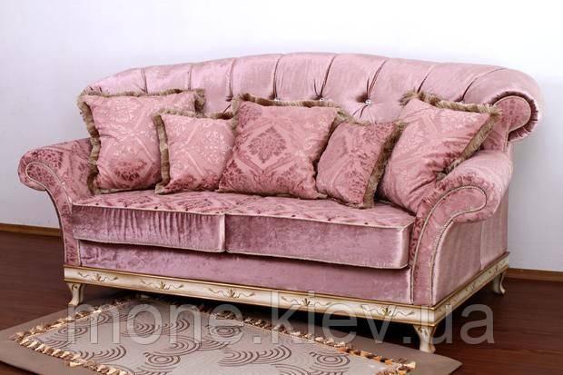 """Диван тримісний класичний з подушками """"Рамзес"""" розкладний"""