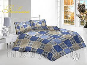 Евро комплект постельного белья Шотландка
