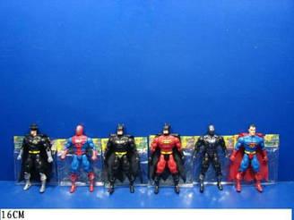 Супер герої (супер герои) 8077-08 (180шт) 6 видів, світяться, в пакеті 16 см