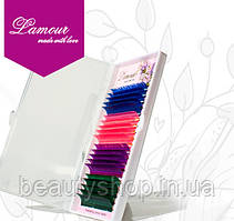 Кольорові вії Lamour Smix (4 кольори) 20 ліній, Лямур