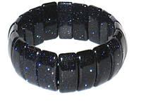 Черный браслет Авантюрин