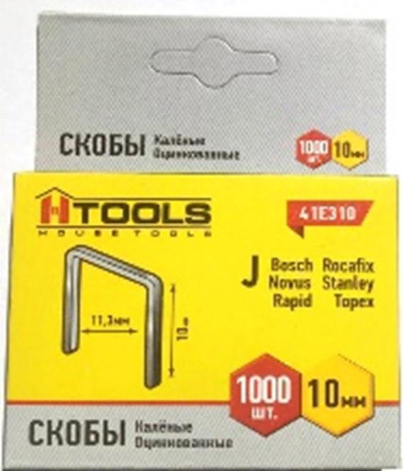 Скобы каленые, 8 мм Тип скобы J. Ширина скобы 11,3 мм. HTools, 41E308N