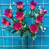 """Букет розы с добавкой""""павлиний глаз""""  искуственный"""
