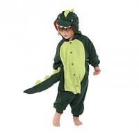 Кигуруми детский Динозавр зеленый 130