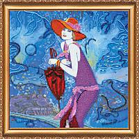 """Набор для вышивания бисером на художественном холсте """"Девушки двадцатых-3″ АВ-342"""