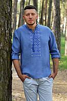 Рубашка с вышивкой в джинсовом стиле, фото 1