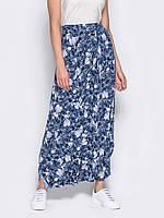 f57c68494fe Темно-синяя свободная женская юбка-трансформер р.44-46