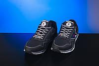 Мужские кожаные кроссовки Reebok Черный/Серый 50_chor_ser
