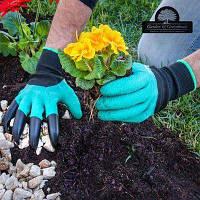 Перчатки садовые с с ногтями MOD-6109 ( перчатки рабочие )