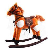 Детская плюшевая качалка-каталка K05 Tobi Toys Лошадка