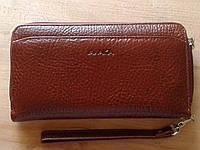 Кошелек клатч кожаный большой коричневый (Турция)