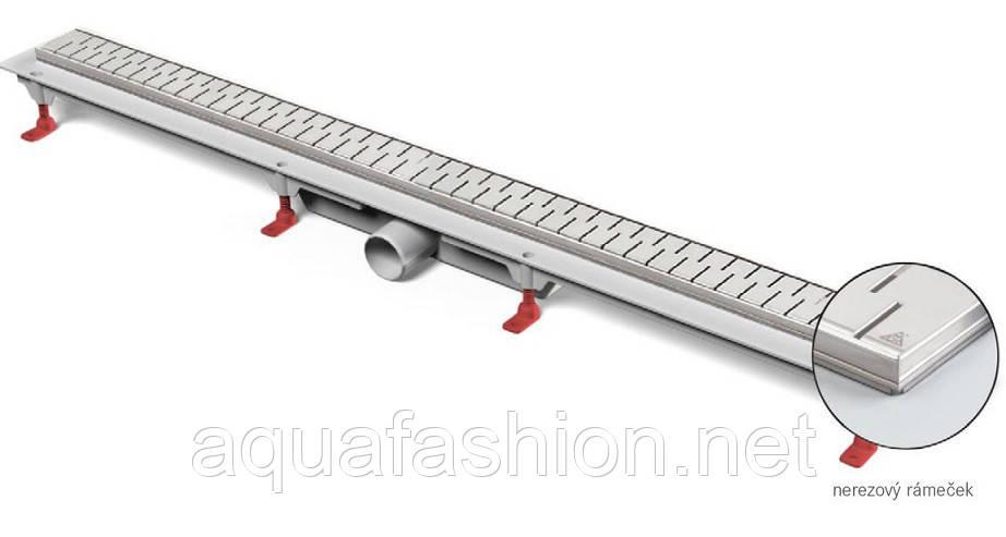 Канал душевой с решеткой Медиум 105 см металл 52 л/мин MCH Чехия
