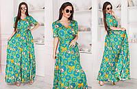 Женское летнее платье из шелка №407 в расцветках \ норма