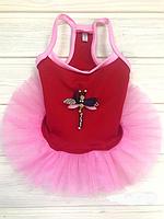 """Платье """"Стрекоза"""", красное, размер 2 (XS)."""