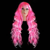 Парик Барби 80 см розовый