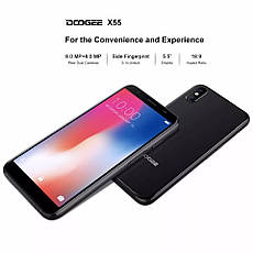 Doogee X55 Black + чохол силіконовий, фото 3
