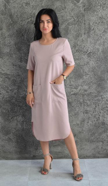 dbc2b7eec790 Женское платье с большими накладными карманами