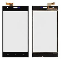 Оригинальный тачскрин Nomi i503 Jump черный, FPC-YCTP50165FS V0 FK-3580 (сенсорный экран, стекло в сборе), Оригінальний сенсорний екран Nomi i503 Jump