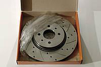 Диск тормозной переднего тормоза ALNAS (алнас) КАЛИНА СПОРТ R15 (с перфорацией и канавками,15 дюймовый)