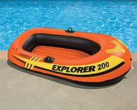 Двухместная надувная лодка Intex Explorer Pro 200 196х102х33см (58356), для рыбалки и отдыха