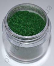 Кашемир тёмно-зелёный  для дизайна ногтей (большая банка)
