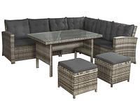 Садовая мебель уголок стол 2 пуфа TECHNOR,