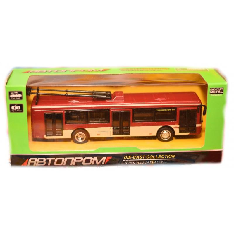 Троллейбус металлический Автопром 6407