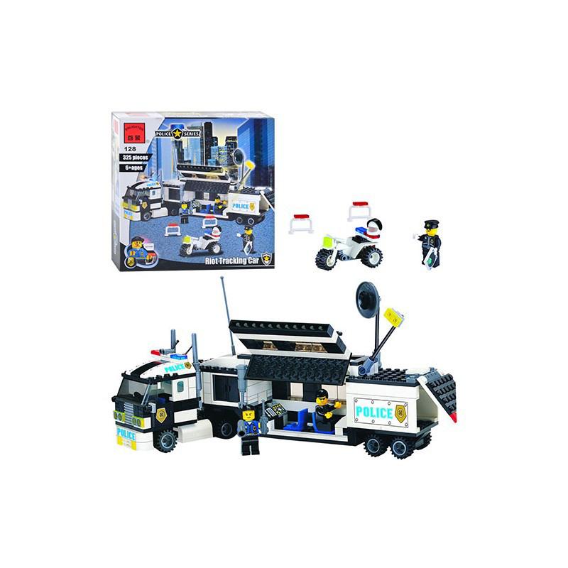 Конструктор BRICK 457832/128 Мобильный полицейский штаб-участок, 325 деталей