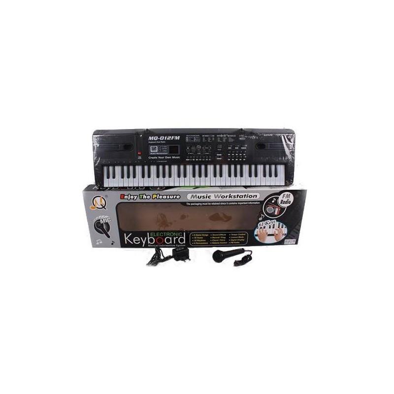 Детский синтезатор с микрофоном и радио