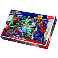 Пазлы Trefl Марвел Человек-паук спешит на помощь 160 элементов (15357)