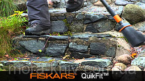 Садовая щетка - метла (малая) QuikFit™ от Fiskars (1001415/135534), фото 3