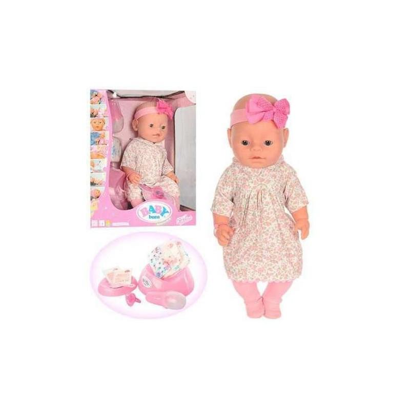 Пупс Baby Born с аксессуарами и одеждой (8 функций)Пупс ВL 010 B 8 функций, в коробке
