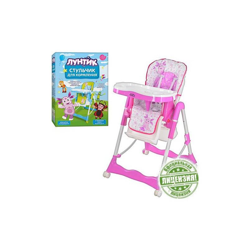 Стульчик для кормления Bambi бело-розовый