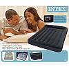 Матрас Intex 66780, 191х137х30 см, черный надувной с подголовником и со встроенным насосом 220 V, фото 9