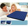 Матрас INTEX 68755 Велюровый 203-183-22см синий, балон, фото 3
