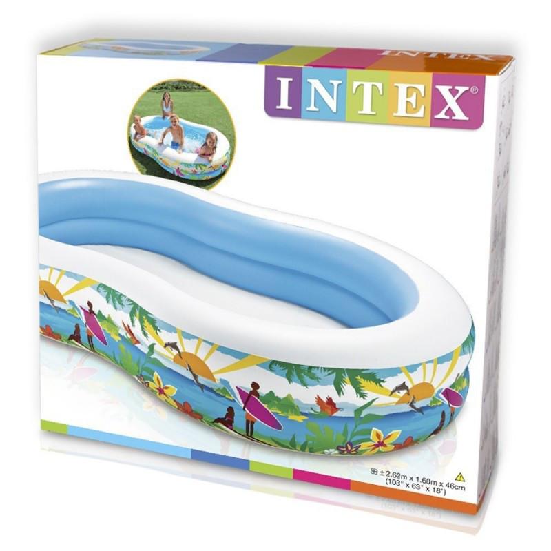 Детский надувной бассейн 56490 Intex, 572 литра (Райская лагуна) 262*160*46 см