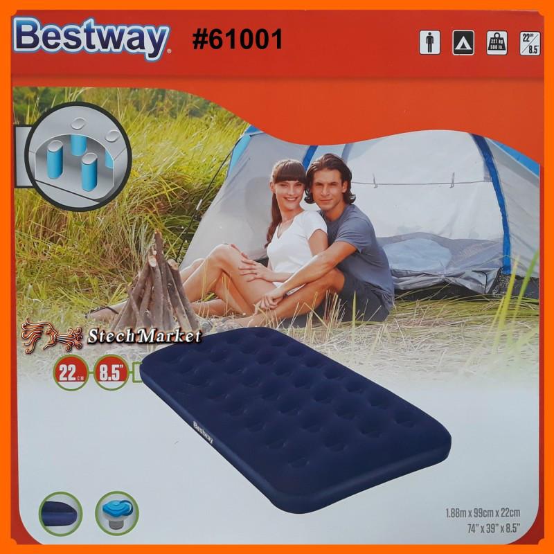 Надувной матрас Bestway 67001 188-99-22см синий