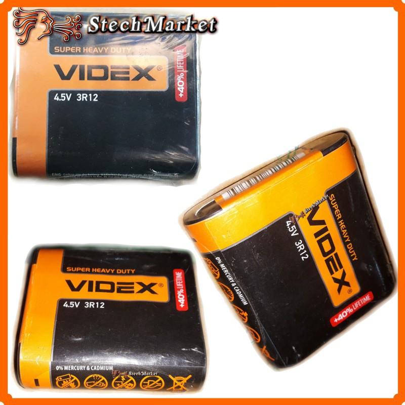 Батарейка Videx квадратная 3R12 4.5v +40% LifeTime