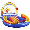 Надувной игровой центр《Радуга》с горкой, радугой и водой Intex 57453, фото 4
