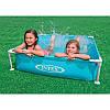 Каркасный детский бассейн «Mini Frame Pool» Intex 57172(57173) 122*122*30см квадратный, фото 2