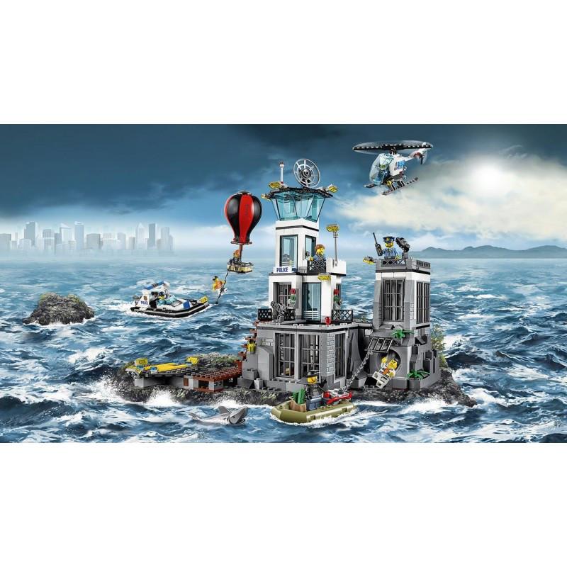 """Конструктор Lele 39016 (аналог Lego City 60130) """"Остров-тюрьма"""", 830 деталей"""