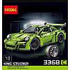 Конструктор Porsche 911 GT3 RS оранжевый Decool (3368B), фото 6