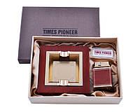 """Подарочный набор """"Pioneer"""" 2в1: пепельница и зажигалка. Отличный подарок для мужчины"""