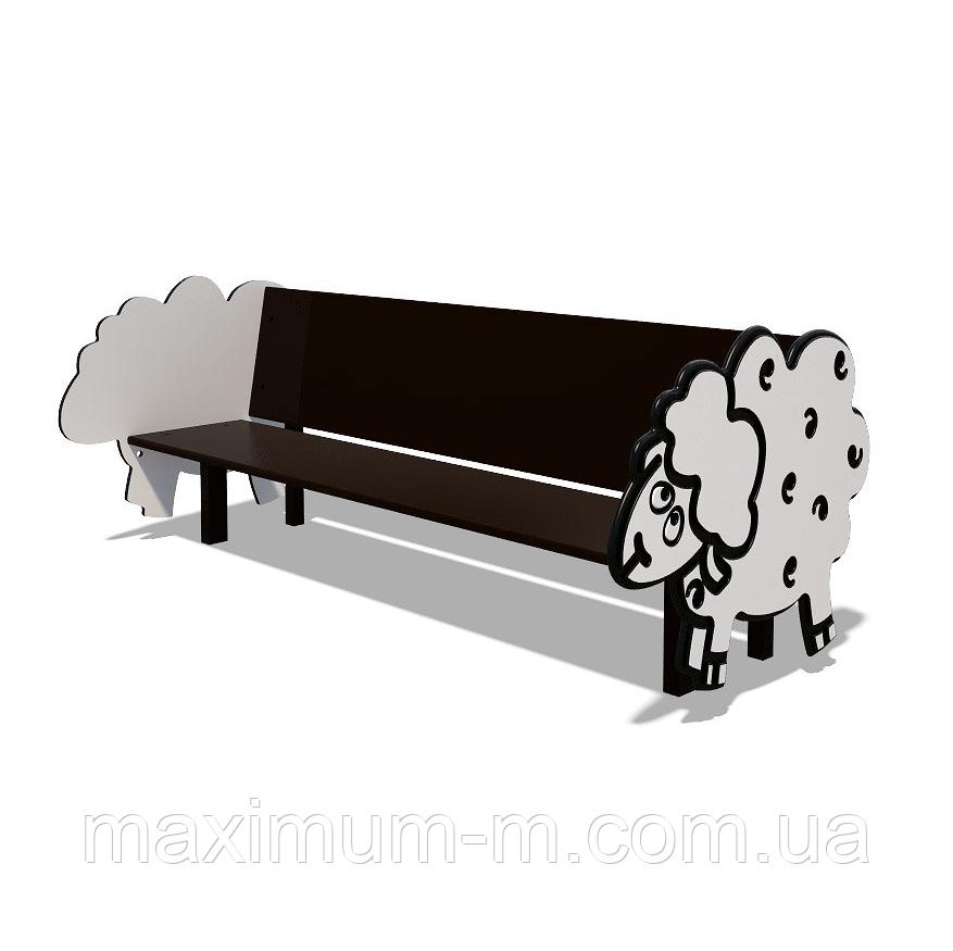 """Детская скамейка """"Барашек""""  S747"""