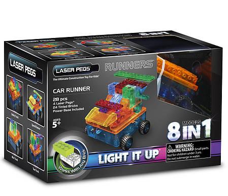 Конструктор Laser Pegs. Автомобиль 8 в 1, фото 2