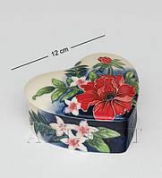Фарфоровая шкатулка Цветущее сердце JP-852/11